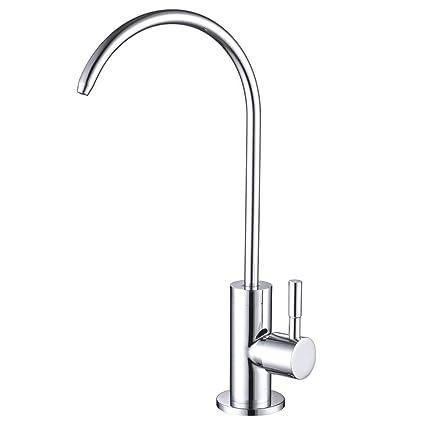 Amazon.com: ESOW grifo de filtro de agua de cocina, Plateado ...
