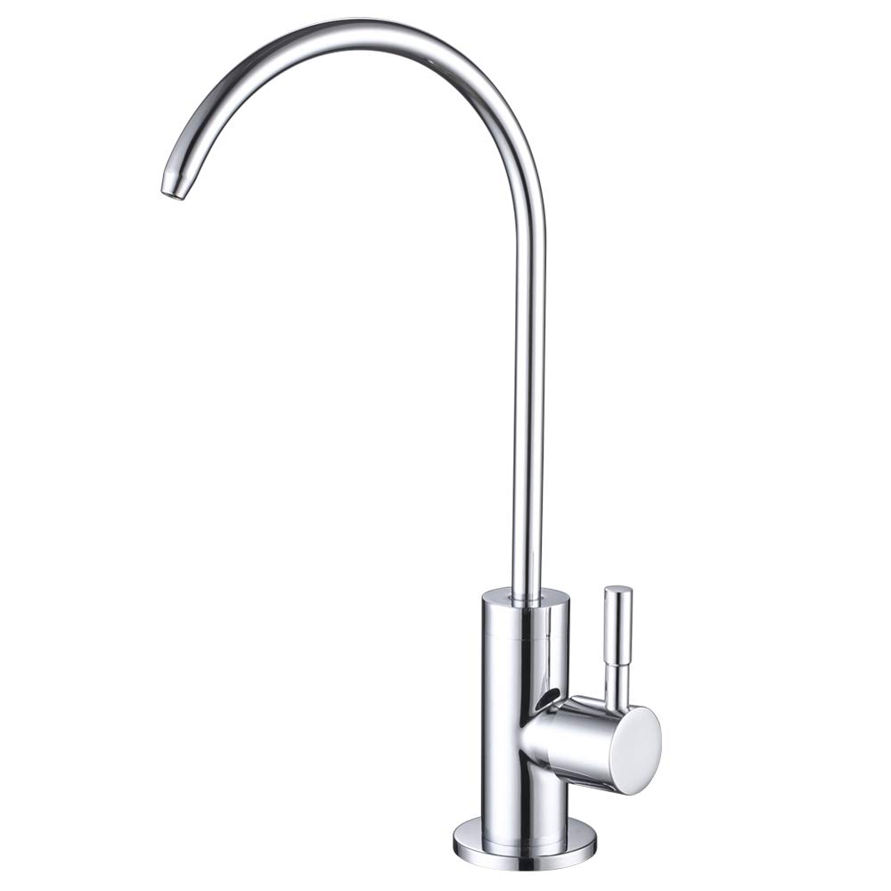 ESOW Kitchen Water Filter Faucet, 100% Lead-Free Drinking Water Faucet Fits most Reverse Osmosis Units or Water Filtration System in Non-Air Gap, Stainless Steel 304 Body Polished Chrome Finish