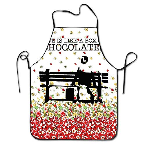 AianuqLuggage KunYi Life is Like A Box of Chocolates Kitchen Cooking BBQ Apron Size 72CM x 52CM