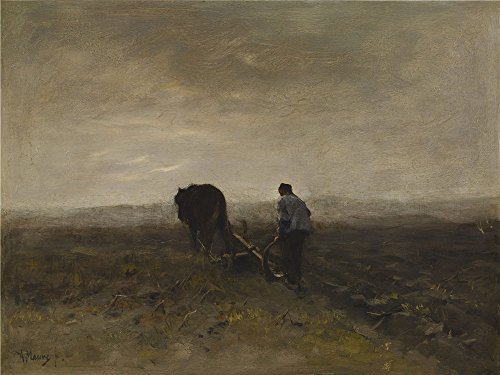 Turtle Shell Costume Tutorial (Oil Painting 'Anton Mauve - Early Morning Plowing, C. 1875' 20 x 27 inch / 51 x 68 cm , on High Definition HD canvas prints is for Gifts And Bath Room, Laundry Room And Living Room Decoration, coupon)