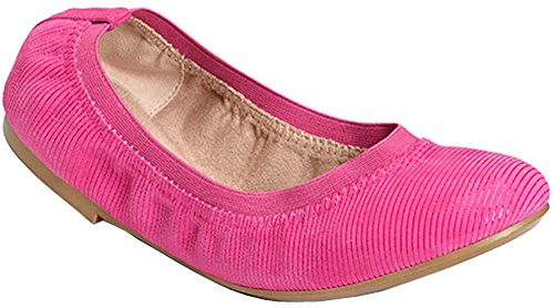 Aerosoles Women's Fable Ballet Flat, DK Pink Suede, 8 M US