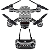 Skin for DJI Spark Mini Drone Combo - Black Aztec| MightySkins Protective, Durable, and Unique Vinyl Decal wrap cover | Easy To Apply, Remove, and Change Styles | Made in the USA