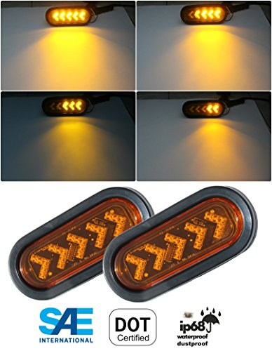 (Radiant 2 Amber Sequential Oval LED Light Sealed 6 7/16