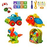 MARKKEER Dinosaur Toys Take Apart Toys with tools Car,Turtle,Dinosaur Take Apart Toy Sets,STEM Learning, Take Apart Fun Construction Engineering Building Toys For Boy Girl Toddler, Best Toy Gift