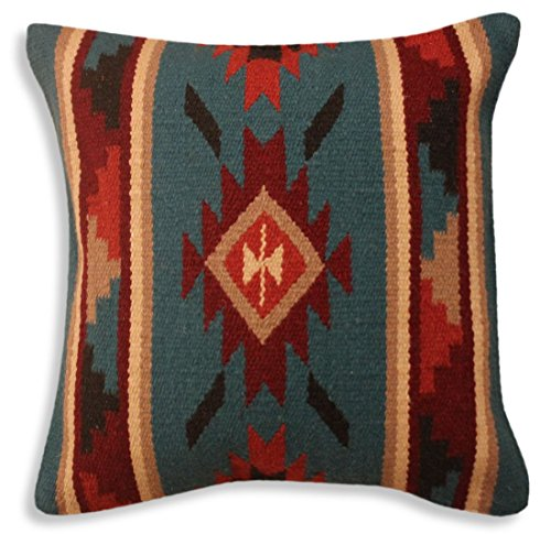 Southwest Boutique Hand Woven WOOL Throw Pillow Cover Southwest Mexican Tribal Native American Style (Tesoro) by Southwest Boutique