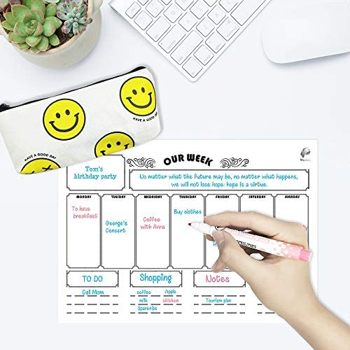 A3 Magnetic Dry Erase Calendar for Refrigerator Monthly Planner 16x12 /& To Do List 8 fine Markers