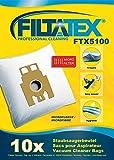 10 x FILTATEX sacs aspirateur Hoover TE70 / hoover te 70 / hoover telios plus te70 - hoover teliosplus te 70 - hoover telios plus te 70 tecc