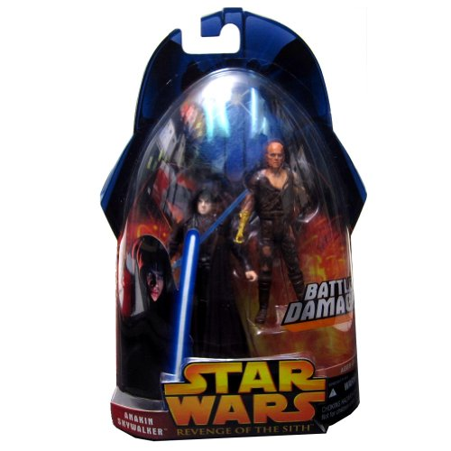 - Star Wars - 2005 - Hasbro - Revenge of the Sith - Anakin Skywalker Battle Damage Action Figures - Collection 1 - New - Limited Edition - Collectible