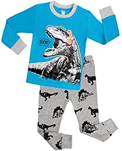 Children Dinosaur Pajamas For Boys Christmas PJs Kids Clothes Size 2-7 Years