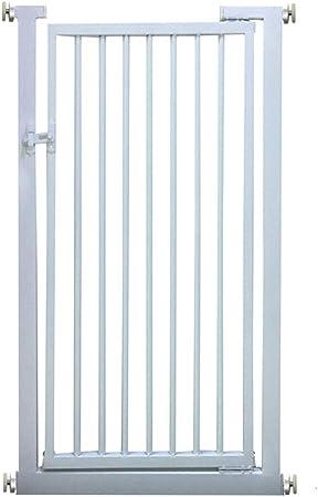 Cancelletto di Sicurezza Puerta De Altura Extra De Seguridad para Escaleras Pasillos Puerta, Ideal para Gatos Perros con 120 Cm De Altura Brecha / 3.5cm, Blanca (Color : H/120cm, Size : W/70-72cm):