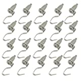 Ozzptuu 20Pcs Professional Adjustable Picture Hanger Hanging Hooks Art Gallery Display Hanging System Accessories