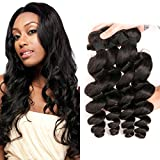 Brazilian Hair Loose Curly 4 Bundles Deals 8a Cheap Brazilian Loose Deep Wave Bundles Wet And Wavy Human Hair Natural Color(8 10 12 14Inch)