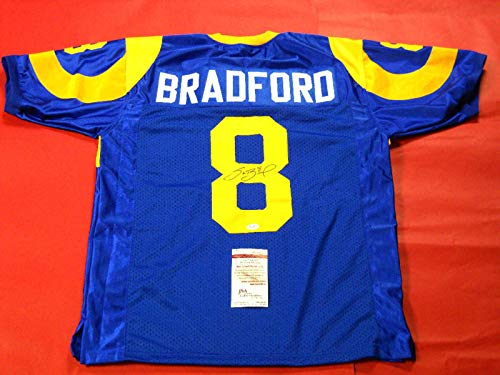 (SAM BRADFORD AUTOGRAPHED ST. LOUIS RAMS THROWBACK JERSEY JSA)
