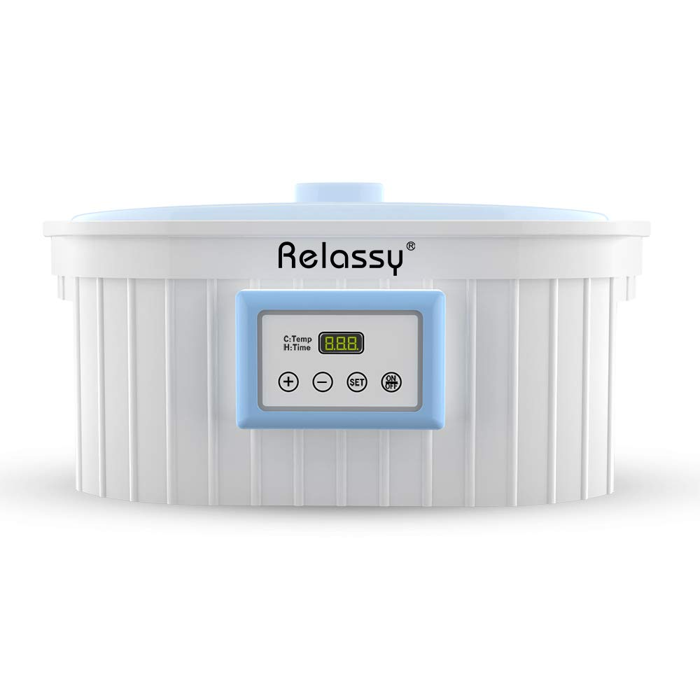 Relassy Paraffin Wax Bath, Paraffin Wax Warmer 5000ml, Paraffin Wax Bath for Hands and Feet, Auto Timer & Keep Warm Function, Smooth and Soft Skin (Blue Paraffin Wax Warmer) Paraffin Wax Bath-1