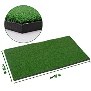 "Relefree Backyard Golf Mat 12""x24"" Residential Training Hitting Pad Practice Rubber with Tee Hole Holder Grass from Relefree"