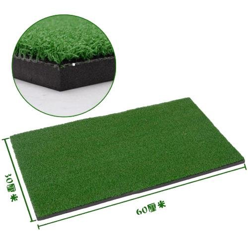 Relefree Backyard Golf Mat 12″x24″ Residential Training Hitting Pad Practice Rubber with Tee Hole Holder Grass