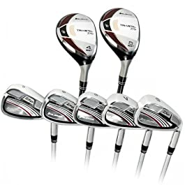 Orlimar Golf ZXP Tri-Metal Pro Senior Edition Irons set: Seniors Right Hand Senior Flex; Cadet, Regular or Tall Lengths:w#4 & 5 Shaft Hybrid Irons + 6-7-8-9 Irons+Pitching Wedge w/Stainless Steel Heads & Senior Flex Graphite Shafts on All Clubs. In Stock! Fast Shipping!