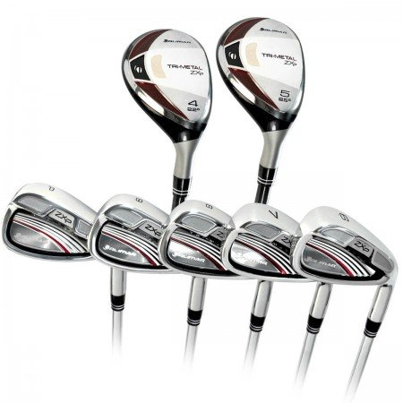 Orlimar Golf ZXP Tri-Metal Pro Senior Edition Irons set: Seniors Right Hand Senior Flex; Cadet, Regular or Tall Lengths:w#4 & 5 Shaft Hybrid Irons + 6-7-8-9 Irons+Pitching Wedge w/Stainless Steel Heads & Senior Flex Graphite Shafts on All Clubs. In (Graphite Pitching Wedge)