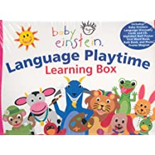 Baby Einstein: Language Playtime Learning Box (Box Set): Includes Discovery Cards & CD, Poster, First Word Book, Bath Book Frame Magne