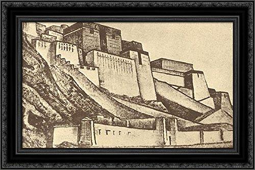 Sanctuaries 24x18 Black Ornate Wood Framed Canvas Art by Nicholas Roerich