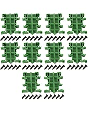 PCB DIN C45 Rail Adapter Circuit Board Mounting Bracket Holder Carrier Mounting Bracket Holder Carrier 35mm 10Sets