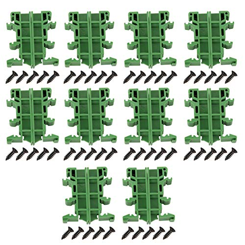 10sets 35mm PCB DIN C45 Rail Adapter Circuit Board Mounting Bracket Holder Carrier DIY Electrical - Pcb Circuit Breaker