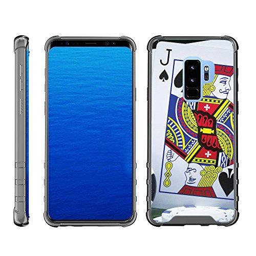 (TurtleArmor | Compatible for Samsung Galaxy S9 Case | G960 [Flexible Armor] Slim TPU Hard Plastic Back Cover Shock Bumper Case with Smoke Edges Gambling Casino Design - Blackjack)
