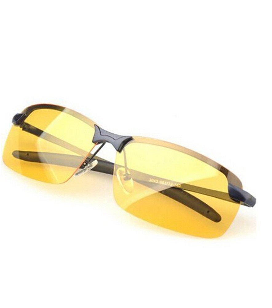 Gearmax® Visione Notturna Uv400 Occhiali Occhiali da sole Occhiali Lenti Polarizzate Antiriflesso Guida Illuminante Occhiali Gearmax®