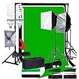 CanadianStudio Pro Quick Setup Continuous Light Photo 1000 WATT OUTPUT Rapid Softbox Fluorecent Video lighting backdrops Kit