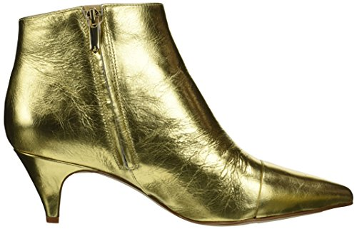 Distressed Sam Fashion Women's Boot Gold Metallic Leather Bright 2 Kinzey Edelman 5rzq1Iwr