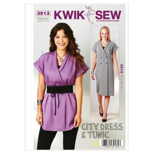 UPC 033594391353, Kwik Sew K3913 City Dress Sewing Pattern, Tunic and Belt