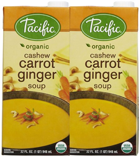 (Pacific Natural Foods Cashew Carrot Ginger Soup - 32 oz - 2 pk )