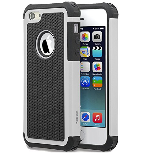 Shockproof Armor Case for Apple iPhone SE/5S/5 (White) - 7