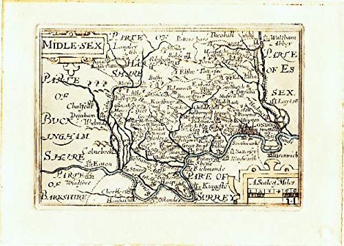(ThePrintsCollector Antique Print-Middlesex-London-Thames-Surrey-Van den Keere-1627)