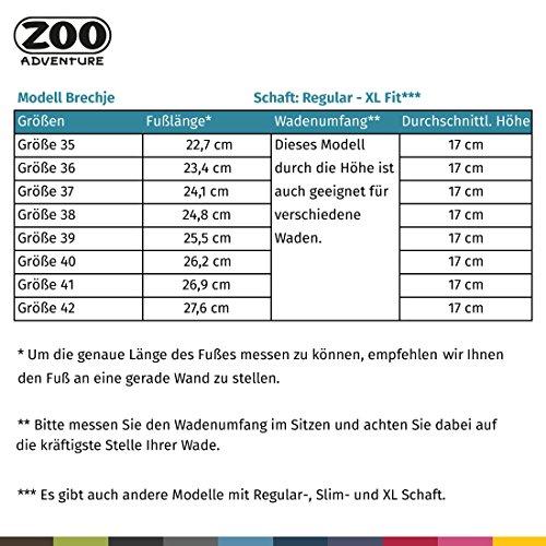 ZOO Adventure - Brechje - Wasserdichte Outdoorstiefel & Winterstiefel aus Leder für Damen Dunkelbraun