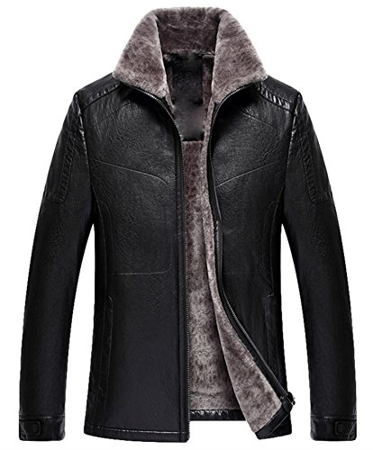 Zipper Leather Jacket Car Coat - 9