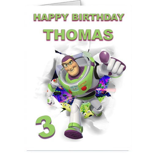 toy story buzz lightyear personalised birthday card Amazoncouk – Buzz Lightyear Birthday Card