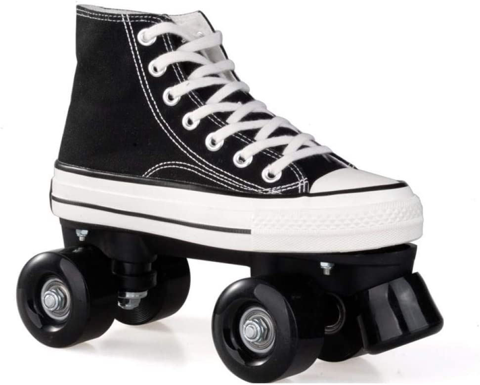 Magnitt Quad Canvas Double Row Roller Skates for Teens with High Top Shoe Style for Indoor//Outdoor Roller Skate for Adults Safe and Durable Fancy Youth Skates