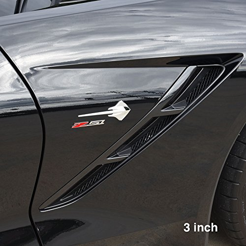 Badge Billet (Corvette Z51 Billet Aluminum Chrome Plated Badge/Emblem : C6, C7 Z51 (3 inch))