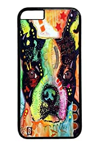 boston terrier Polycarbonate Hard Case Cover for iphone 6 4.7 inch Black