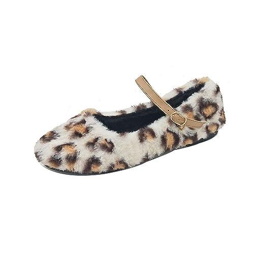 319de530b6119 Zapatos de Vestir Plano para Mujer Invierno Primavera PAOLIAN Calzado  Fiesta Elegantes Terciopelo Lana Animal Print Leopardo Boda Suave Cómodos  Zapatos ...