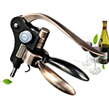 Best Rabbit Wine Bottle Opener Corkscrew With Foil Cutter & Spiral Worm. Durable & Ergonomic Lever Handle. For Wine Enthusiasts, Bartenders, Waiters, Champagne & More. Comes In A Gift Package.