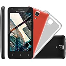"Smartphone MS 45 S Câmera 3 MP + 5 MP 3G Quad Core 1GB Android 5.1, Multilaser, NB234, 8GB, 4.5"", Preto"