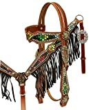 Showman Medium Oil Leather Headstall & Breastcollar set...