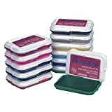 """ColorBox 1719 Clear Snap Non-Toxic Washable Stamp Pad Set, 2-7/8"""" x 2"""" Size, Assorted Color, 2.2"""" Height, 3.1"""" Width, 7.8"""" Length (Pack of 12)"""
