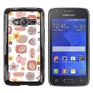 iKiki Tech / Estuche rígido - Cute Pattern Art Kids White - Samsung Galaxy Ace 4 G313 SM-G313F