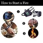 aZengear Bracelet de Paracorde et Survie pour Homme Femme - Militaire Kit avec Allume-feu - Boussole - Sifflet… 10