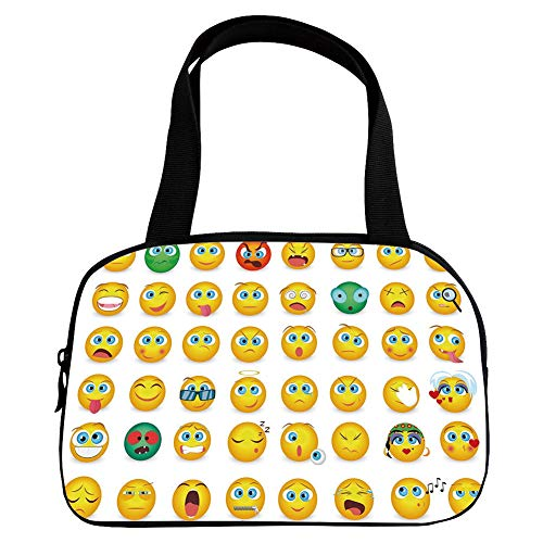 Multiple Picture Printing Small Handbag Pink,Emoji,Cartoon, used for sale  Delivered anywhere in USA