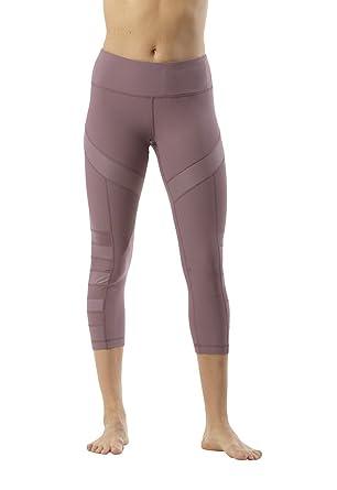 b1488804dd3b6 90 Degree By Reflex Mesh Panel Insert Capri at Amazon Women's Clothing  store: