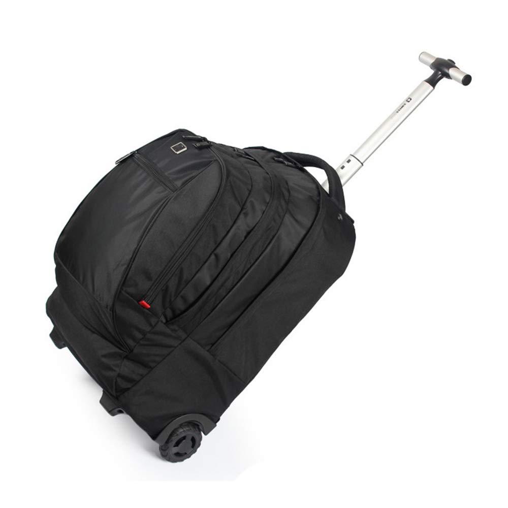 ラップトップバックパック、ビジネス搭乗旅行用ハンドバッグ、マルチポケット防水隠しショルダーストラップトロリーバックパック B07T9F917X